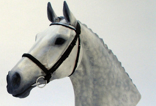 New! Hand Painted Thoroughbred Horses Head